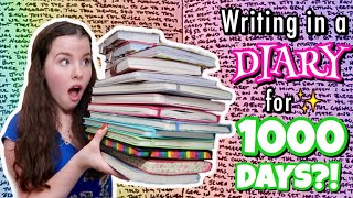 Writing in a DIARY for 1000 DAYS?! | Carrie Walker