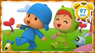 🚶🚶 POCOYO in ENGLISH - Walking [ 97 minutes ] | Full Episodes | VIDEOS and CARTOONS for KIDS