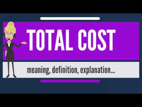 What is TOTAL COST? What does TOTAL COST mean? TOTAL COST meaning, definition & explanation