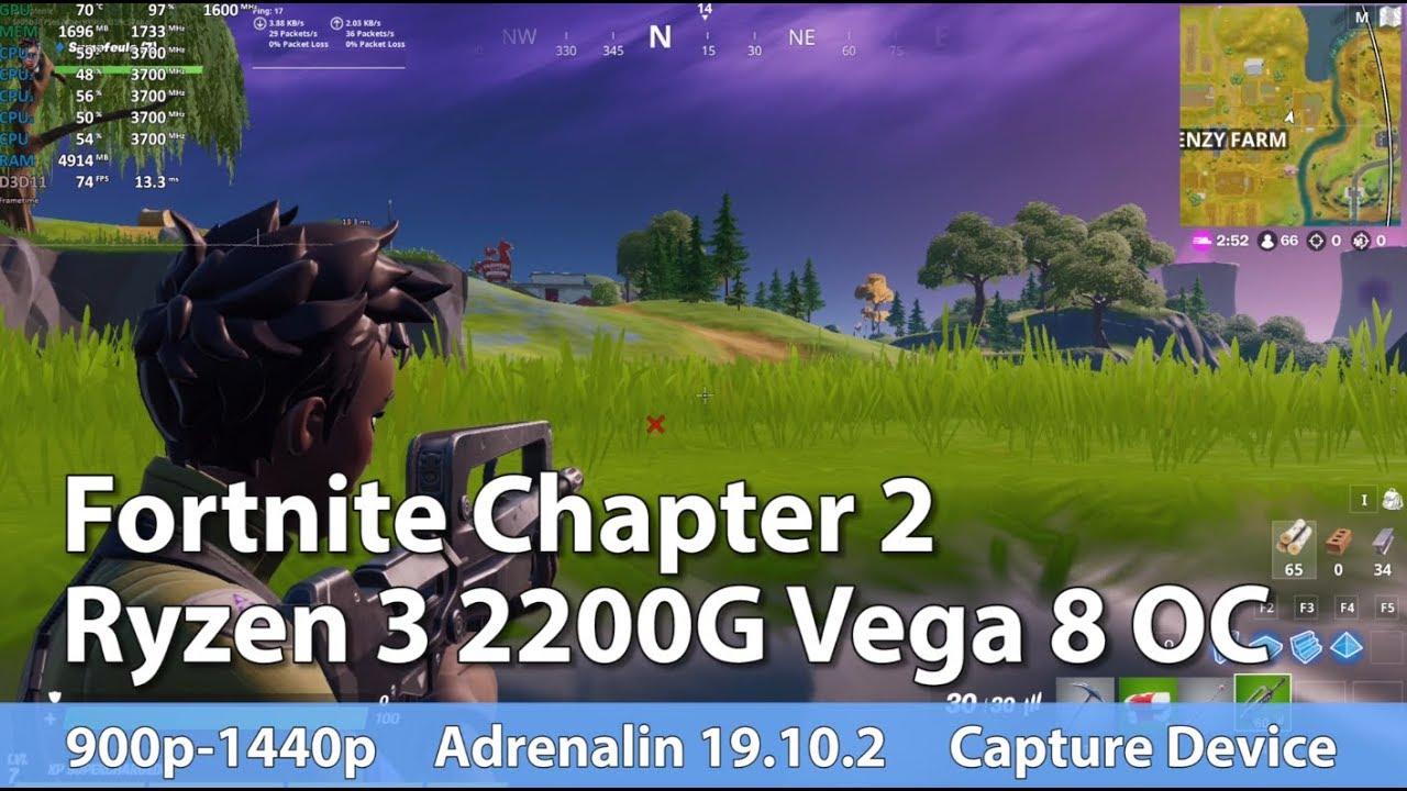 Ryzen 3 2200g Fortnite Season 9 Fortnite 2 On Amd Ryzen 3 2200g Vega 8 Oc Test Gameplay Benchmark Youtube
