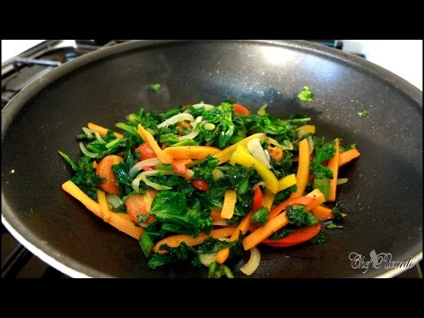 Stir Fry – Curly Leaf Kale | Recipes By Chef Ricardo
