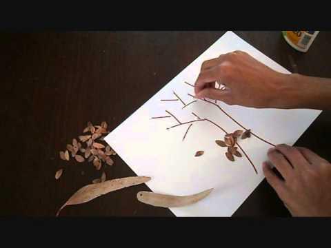 יצירה עם עלים יבשים