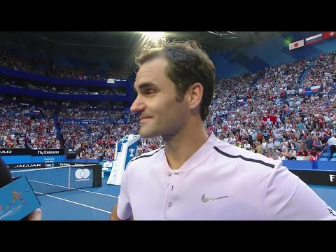 Roger Federer on-court interview (RR) | Mastercard Hopman Cup 2018