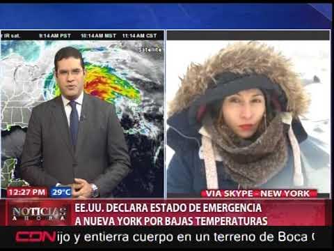 EEUU declara estado de emergencia a Nueva York por bajas temperaturas