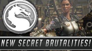 "Mortal Kombat X: Secret Jacqui  Briggs ""Decapitation"" & ""Tech Shield"" Brutalities! (Mortal Kombat X)"