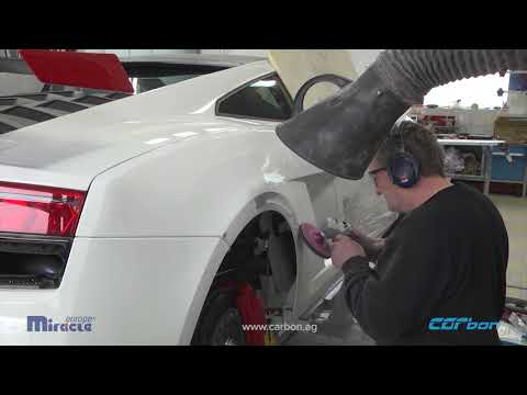 Lamborghini Gallardo repair of side panels and wheel arch