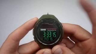 Новинка 2018. Тактичні годинник Skmei 1405 з сонячною панеллю, огляд, налаштування, схуднення, купити