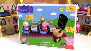 Peppa Pig Lego school Lego Blocks Playset - La Casa bloques construcción toys review