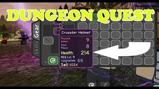 I FOUND A CRUSADER HELMET WHICH GIVES ME TONS OF HEALTH IN ROBLOX DUNGEON QUEST. LET'S PLAY WITH BEN