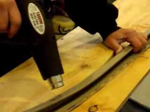 Bending J Channel With A Heat Gun Youtube