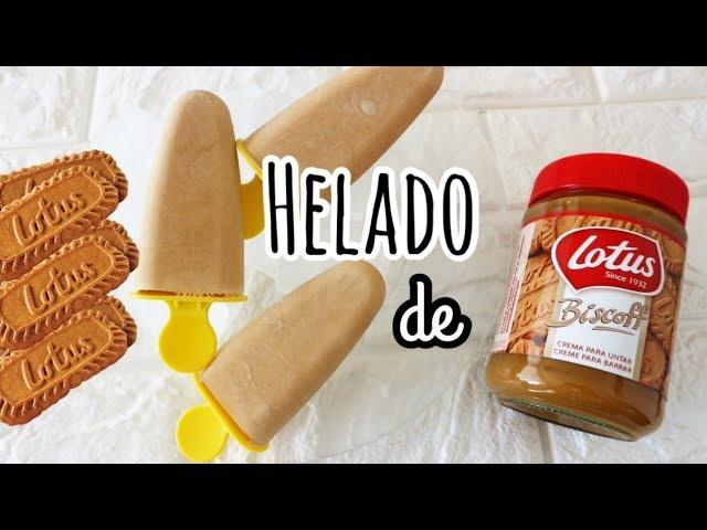 HELADO DE GALLETAS LOTUS | Recetas con 2 ingredientes