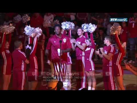 The Hoosiers are Introduced at Hoosier Hysteria