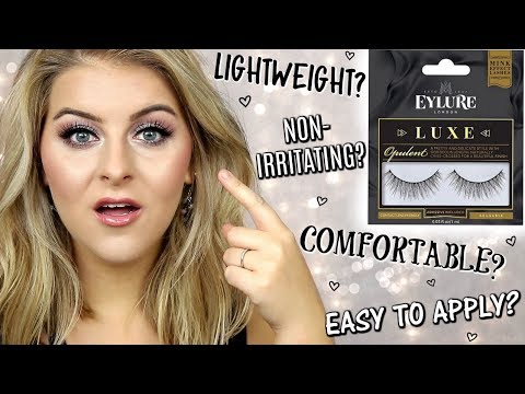 980190ba8d4 TESTING VIRAL FALSE LASHES // EYLURE LUXE OPULENT LASHES - YouTube