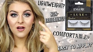 TESTING VIRAL FALSE LASHES // EYLURE  LUXE OPULENT LASHES