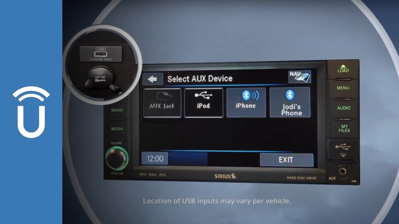 Connect Via Usb Uconnect 174 430 And 430n Systems Youtube