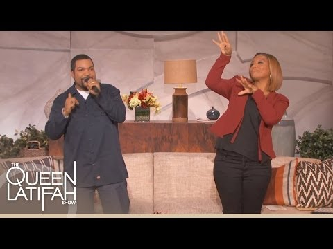 Web Exclusive: Ice Cube Raps On The Queen Latifah Show
