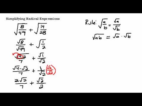 Simplifying a radical expression with fractions youtube ccuart Gallery