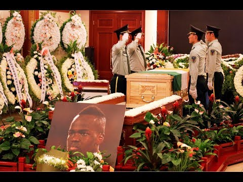 Football fans and teammates pay last respects to Ivory Coast star in Beijing