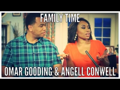 On The Set of FAMILY TIME w Angell Conwell and Omar Gooding