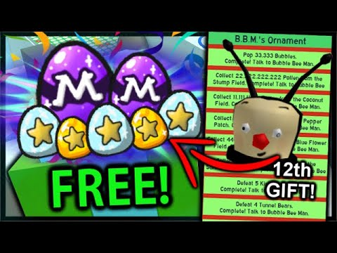 Opening the *INSANE* 12th Mondo Present - FREE MYTHIC EGGS & How To Get | Roblox Bee Swarm Simulator