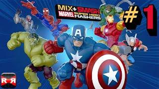 MixSmash Marvel Super Hero Mashers - Hulk and Groot Mix - iOS  Android Gameplay Video
