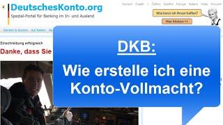 DKB: Wie erstelle ich eine Konto-Vollmacht?