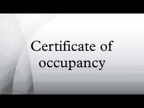 Certificate of occupancy - YouTube