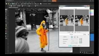 Corel PaintShop Pro X4 Tutorial - BW Conversion + Color