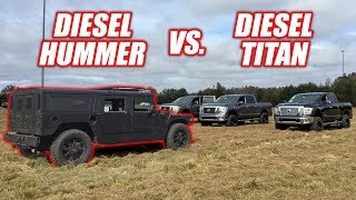 Download We Raced a NEW Diesel Titan vs. a Hummer H1 (it was epic lol!) Mp3 and Videos