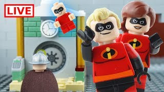 LEGO Incredibles LIVE 🔴 STOP MOTION LEGO Incredibles vs Villains | LEGO Superheroes | Billy Bricks