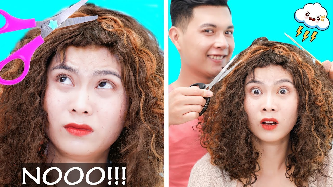 Girl DIY! FUNNY CURLY HAIR PROBLEMS! Girls With Curly Hair Struggles | Rainbow Crafts