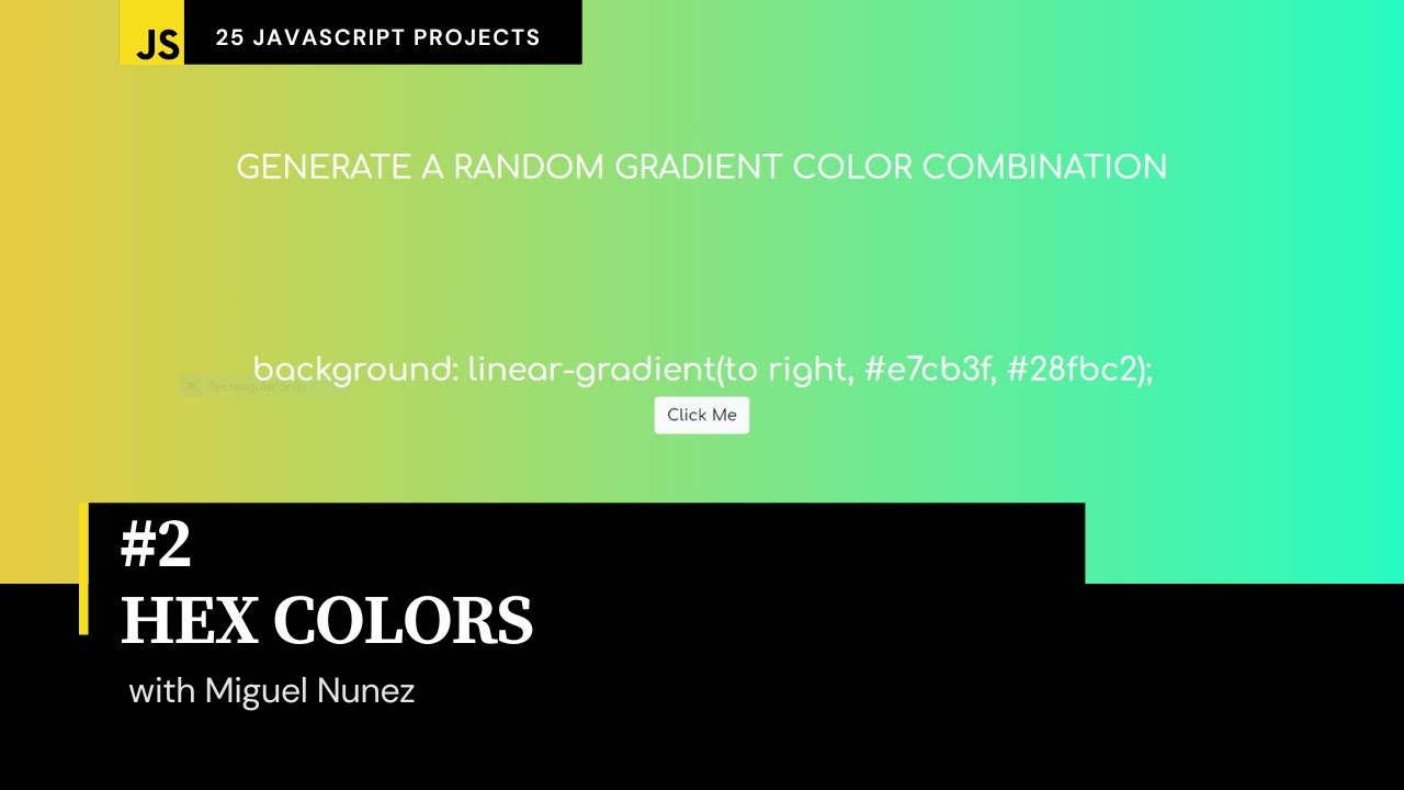 Create a Program that Changes the Background Color with  HTML, CSS, & JavaScript