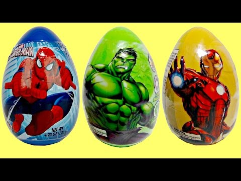 Thumbnail: SUPERHERO EASTER EGGS, Marvel Avengers Justice League, TMNT, Iron Spider Man In real life IRL TUYC