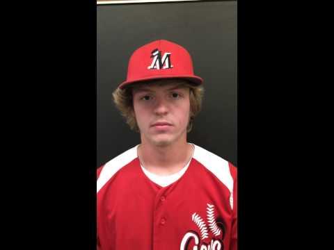 Morton baseball player Cody Earl