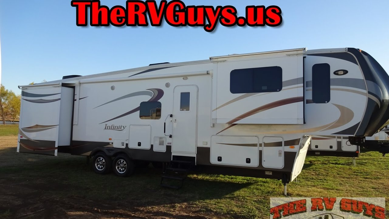 Tons o room in this fantastic front living full timer 5th - Infinity fifth wheel front living room ...