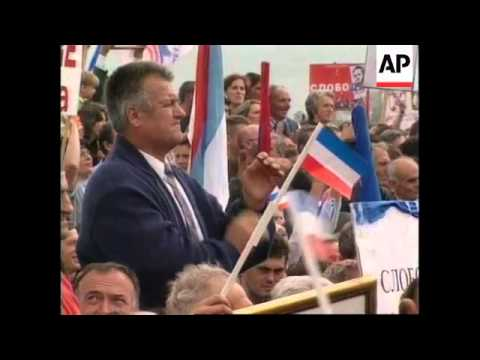 YUGOSLAVIA/MONTENEGRO: MILOSEVIC ELECTION RALLY