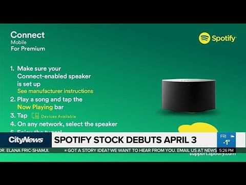 Business Report: Spotify stock debuts next month