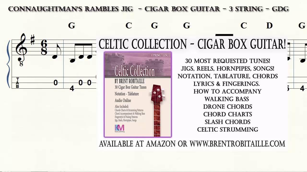 Cigar Box Guitar Celtic Collection Connaughtmans Rambles 3