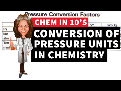Conversion of Pressure Units in Chemistry