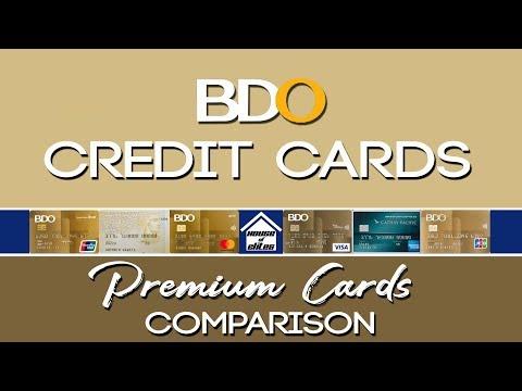 Credit Card Philippines L BDO Premium Credit Cards Comparison