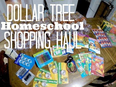 Dollar Tree Homeschool Shopping Haul
