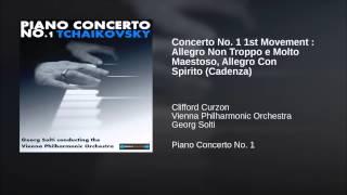 Concerto No. 1 1st Movement : Allegro Non Troppo e Molto Maestoso, Allegro Con Spirito (Cadenza)
