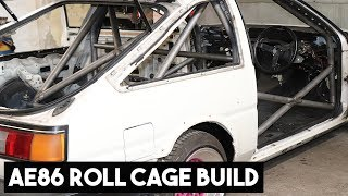 AE86 COROLLA ROLL CAGE BUILD, TIME LAPSE