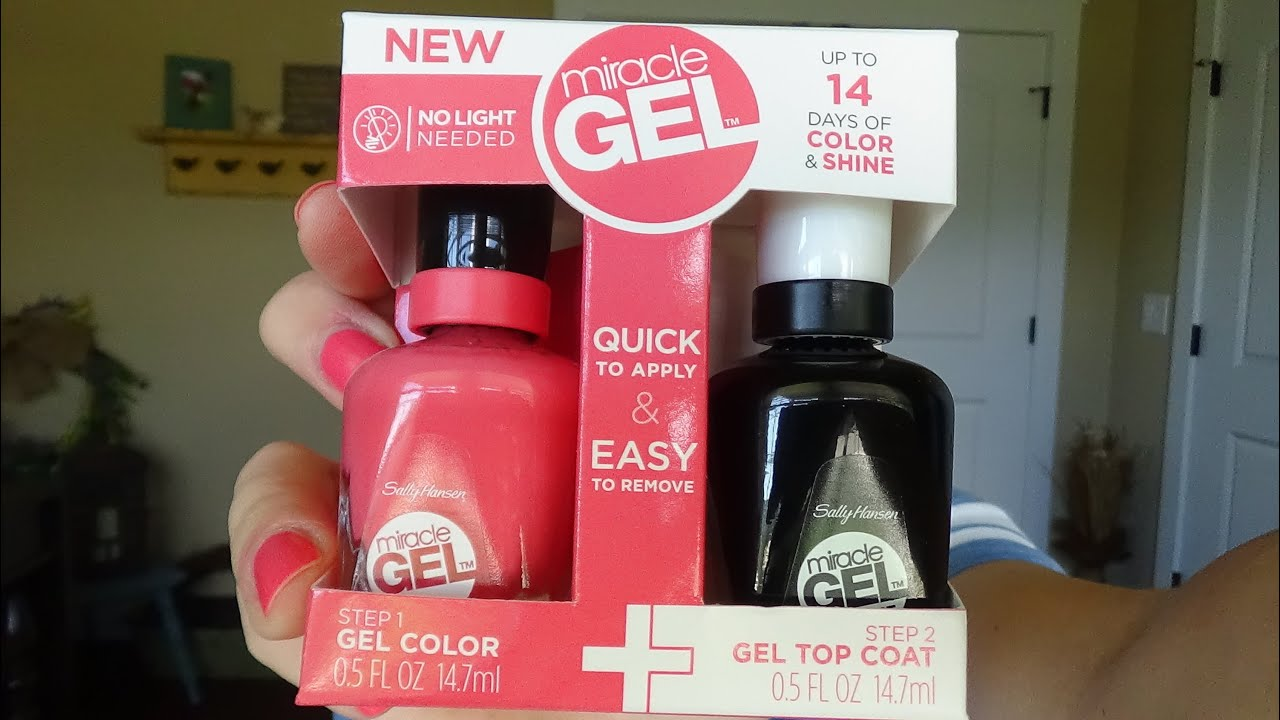 Review Sally Hansen New Miracle Gel No Light Needed Gel