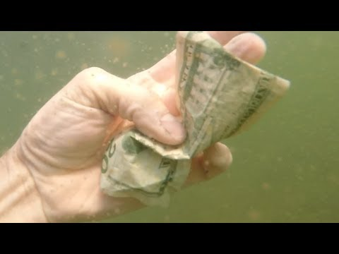Download Youtube: CASH found under water diving for lake treasure!