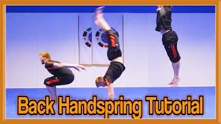 Back Handspring Tutorial (Flick)   GΝT How to
