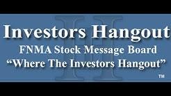 FNMA Stock Fannie Mae Message Board