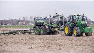 Precyzyjna gnojowica w Mazowieckim! John Deere 6250r i Fliegl PFW 20000 #bylemnapolu