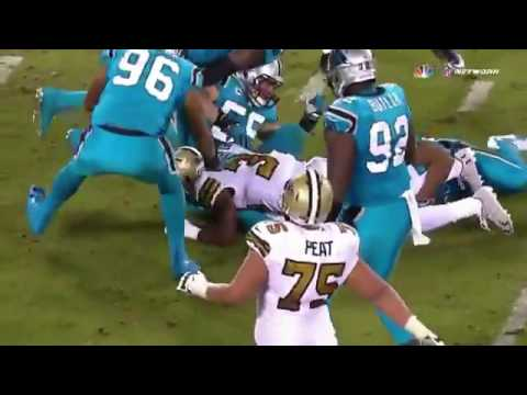 Luke Kuechly Crying after injury vs Saints | HD