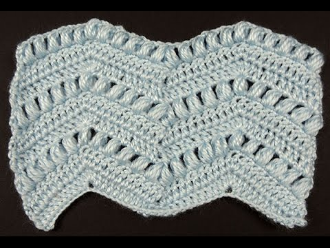 Crochet : Punto Zig Zag # 5 - YouTube